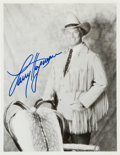 Movie/TV Memorabilia:Autographs and Signed Items, Larry Hagman: Actor's Autographed Photo For Doodle for Hunger. Benefitting St. Francis Food Pantries and Shelters...