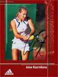 Movie/TV Memorabilia:Autographs and Signed Items, Anna Kournikova : Pro tennis Player's Autographed Photo ForDoodle for Hunger. Benefitting St. Francis Fo...