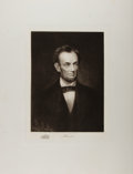 Books:Prints & Leaves, Gravure Portrait of Abraham Lincoln from: The White HouseGallery of Official Portraits of the Presidents. New Y...