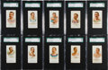 """Baseball Cards:Sets, 1887 N28 Allen & Ginter """"Worlds Champions"""" SGC-Graded Collection (10) - The Oarsman. ..."""