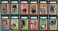 Football Cards:Sets, 1955 Topps All-American Football SGC-Graded Partial Set (50/100)....
