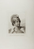 Books:Prints & Leaves, [Copper Engraving] [Cook's Voyages]. A Man of the SandwichIslands, with his Helmet. London, ca. 1784. From TheTh...