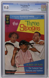 Three Stooges File Copies CGC Group (Gold Key, 1969-71) CGC VF/NM 9.0. These slabbed Stooge books include CGC VF/NM 9.0...