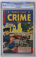 """Golden Age (1938-1955):Crime, Thrilling Crime Cases #42 Davis Crippen (""""D"""" Copy) pedigree (Star Publications, 1950) CGC VF 8.0 Off-white to white pages. L..."""