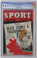 """Golden Age (1938-1955):Miscellaneous, True Sport Picture Stories V3#11 Davis Crippen (""""D"""" Copy) pedigree (Street & Smith, 1947) CGC VF+ 8.5 Off-white to white pages..."""