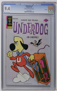 Underdog #1 and 2 File Copies Group (Gold Key, 1975) CGC NM 9.4. CGC graded copies of #1 and 2, both with off-white to w...