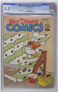 "Golden Age (1938-1955):Cartoon Character, Walt Disney's Comics and Stories #83 Davis Crippen (""D"" Copy)pedigree (Dell, 1947) CGC FN- 5.5 Off-white to white pages. Ca..."