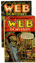 Golden Age (1938-1955):Horror, Web of Mystery #23 and 26 Group (Ace, 1954). Issue #23 is VG+; #26is VG/FN. Approximate Overstreet value for group value = ...(Total: 2 Comic Books)