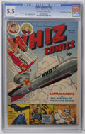 "Golden Age (1938-1955):Superhero, Whiz Comics #143 Davis Crippen (""D"" Copy) pedigree (Fawcett, 1952) CGC FN- 5.5 Off-white to white pages. Pete Costanza cover..."