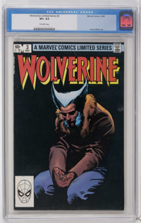 Wolverine (Limited Series) #3 (Marvel, 1982) CGC VF+ 8.5 Off-white pages. Frank Miller cover and art. Overstreet 2006 VF...