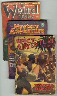 Miscellaneous Pulp Group (Miscellaneous, ) Condition: Average VG. Includes Spicey Adventure July 1940 (tape on cover);...