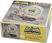Batman Talking Alarm Clock (Janex, 1975). This nifty clock comes in the original box and says multiple phrases, like &qu...