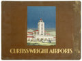Transportation:Aviation, Curtiss-Wright Airport Directory, circa 1930, approximately 100pages, oblong folio, leatherette card covers with tipped-on ...(Total: 1 Item)