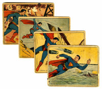 Rare Superman Trading Cards (Gum, Inc., 1940). This lot contains nine 1940 Superman cards from the 72 card set. Cards in...