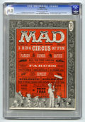 Magazines:Mad, Mad #29 (EC, 1956) CGC NM- 9.2 Off-white to white pages. This wasAl Feldstein's first issue as editor and Don Martin's firs...