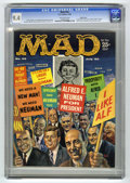 Magazines:Mad, Mad #56 Pacific Coast pedigree (EC, 1960) CGC NM 9.4 Off-white pages. Kelly Freas cover. Wally Wood, Al Jaffee, George Woodb...