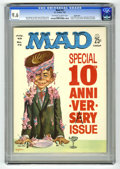 Magazines:Mad, Mad #72 Pacific Coast pedigree (EC, 1962) CGC NM+ 9.6 Off-white towhite pages. Tenth anniversary issue. Kelly Freas cover. ...