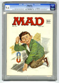 """Magazines:Mad, Mad #110 Pacific Coast pedigree (EC, 1967) CGC NM+ 9.6 Off-white to white pages. """"Yellow Pages for Super-Heroes"""" article. No..."""