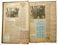 """Transportation:Aviation, National Air Races Archive, 1930s, consisting of huge folio scrapbook, 11.5"""" x 16"""", packed with newspaper stories and magaz...(Total: 4 Item)"""