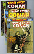 Magazines:Miscellaneous, Savage Sword of Conan Group (Marvel, 1974-75) Condition: AverageVF-. Includes issues #2 (Neal Adams cover, Howard Chaykin a...(Total: 7 Comic Books)