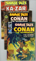 Magazines:Miscellaneous, Savage Tales #2-7 Group (Marvel, 1974) Condition: Average VF.Includes #2 (3 copies), 3 (3 copies), 4, 5 (Brak the Barbarian...(Total: 11 Comic Books)