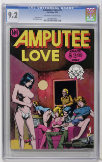 Amputee Love #1 (Last Gasp, 1975) CGC NM- 9.2 Off-white to white pages. Brent Boates cover. Adult oriented material. Fog...