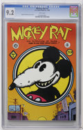 Bronze Age (1970-1979):Alternative/Underground, Mickey Rat #1 (Los Angeles Comic Book Co., 1972) CGC NM- 9.2 White pages. Robert Armstrong cover and art. Mature subject mat...