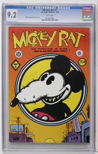 Mickey Rat #1 (Los Angeles Comic Book Co., 1972) CGC NM- 9.2 White pages. Robert Armstrong cover and art. Mature subject...