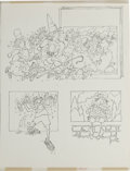 """Original Comic Art:Panel Pages, Paul Coker Jr. - Mad #255 Panel Original Art, Group of 3 (EC, 1985). Paul Coker illustrates the feature, """"The Physical Fitne... (Total: 3 Items)"""