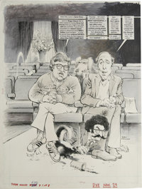 "Mort Drucker - Mad #246, Complete 8-page Story ""Sissy and Ebore at the Movies"" Original Art (EC, 1984). Gene S..."