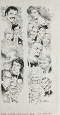 """Original Comic Art:Sketches, Mort Drucker - Mad #250 Illustration Original Art (EC, 1984). Mort Drucker illustrates the feature, """"Mad's X-Rated Celebrity..."""