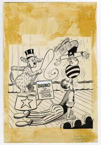 Warren Kremer (attributed) - Mutt and Jeff #145 Cover Original Art (Harvey, 1965). It's a dog day afternoon for Mutt and...