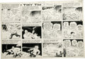 Original Comic Art:Comic Strip Art, Stanley Link - Tiny Tim Sunday Comic Strip Original Art, Group of 3 (Chicago Tribune, 1945). Tim receives a report from the ... (Total: 3 Items)