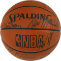 Basketball Collectibles:Balls, 1989-90 Boston Celtics Team Signed Basketball. A total of 14members of the 1989-90 Boston Celtics have made their way to t...