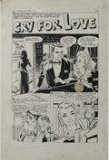 """Original Comic Art:Complete Story, Bob Powell - First Love Illustrated #89, Eight-page Story """"Cry For Love"""" Original Art (Harvey, 1962). Please note that pages... (Total: 8 Items)"""