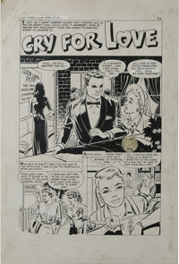 """Bob Powell - First Love Illustrated #89, Eight-page Story """"Cry For Love"""" Original Art (Harvey, 1962). Please n..."""