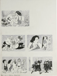 """Angelo Torres - Mad #264 Page Original Art, Group of 2 (EC, 1986). Two pages by Angelo Torres illustrating """"Mad's P..."""
