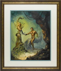 "Boris Vallejo - ""Daphne and Apollo"" Painting Original Art (1989). This classic myth of lost love gets the dist..."