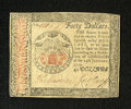 Colonial Notes:Continental Congress Issues, Continental Currency January 14, 1779 $40 Choice New. A lovelyuncirculated example from this final Continental emission whi...
