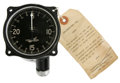 "Transportation:Aviation, Vintage Aircraft Tachometer, 3.25"" diameter x 2.5"" deep,Consolidated Instrument Co., New York, steel housing paintedblack,... (Total: 1 Item)"