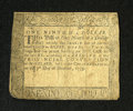 Colonial Notes:Maryland, Maryland December 7, 1775 $1/9 Very Fine. This is a lightlycirculated example of this fractional denomination that is very ...
