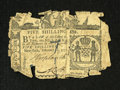 Colonial Notes:New York, New York February 16, 1771 5s Fair. About 80% of the note remainswith the signatures and face designs clear....
