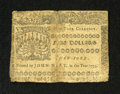 Colonial Notes:New York, New York September 2, 1775 $5 Very Fine. But for a couple smallpieces of tape and a lightly damaged right edge this actuall...