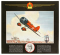 "Transportation:Aviation, Thompson Trophy Winners Prints, 1929 - 1937, each 14.5"" x 13.5"", with photographs of the victors beneath Charles H. Hubbell ... (Total: 1 Item)"