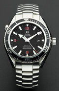 Timepieces:Wristwatch, Omega Seamaster Professional Planet Ocean Co-Axial Chronometer. ...