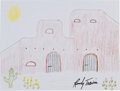 Movie/TV Memorabilia:Original Art, Randy Travis: Country Music Singer's Doodle For Hunger.Benefitting St. Francis Food Pantries and Shelters . ...