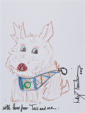 Movie/TV Memorabilia:Original Art, Lily Tomlin: Actor's Doodle For Hunger. Benefitting St.Francis Food Pantries and Shelters . ...