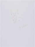 Movie/TV Memorabilia:Original Art, Jerry Vale: Singer's Doodle For Hunger. Benefitting St.Francis Food Pantries and Shelters . ...