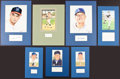 Baseball Collectibles:Others, Baseball Hall of Famers Signed Cut Signature Displays Lot of 7....