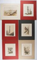 Books:Prints & Leaves, David Roberts. Group of Six Nineteenth Century Color Lithographs ofthe Holy Land. Approx. 8 x 11.5 inches. Matted. Very goo... (Total:6 Items)